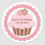 Customizable Cupcake Stickers Labels