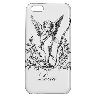 Customizable Cupid Angel Vintage Art Case For iPhone 5C