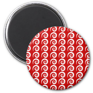Customizable Curls 2 Inch Round Magnet