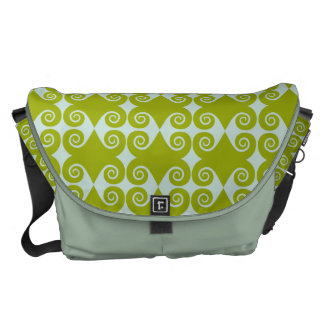 Customizable Curls Pattern Courier Bag