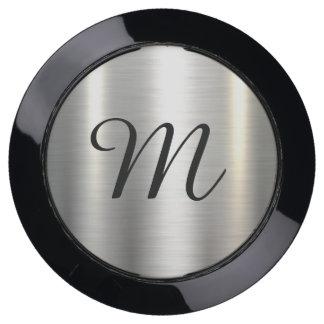Customizable Customize Custom Metallic Monogram USB Charging Station