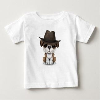 Customizable Cute Bulldog Puppy Cowboy Baby T-Shirt