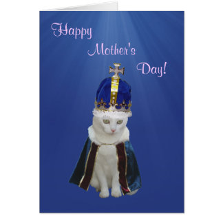 Customizable Cute Cat Mother's Day Greeting Card