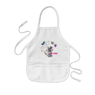 Customizable cute colorful cat kids' apron