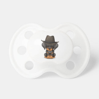 Customizable Cute Doberman Puppy Cowboy Pacifier