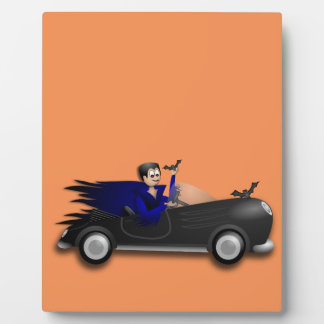 Customizable Cute Dracula Designs Plaque