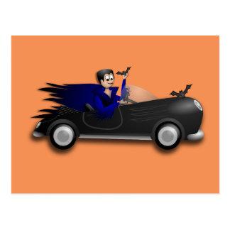 Customizable Cute Dracula Designs Postcard