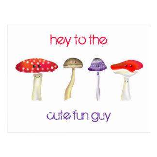 Customizable: Cute fun guy Postcard