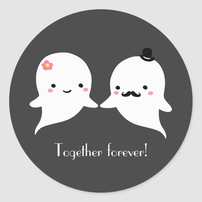 Ghost couple sticker set.