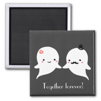 Customizable Cute Ghost Couple Magnet