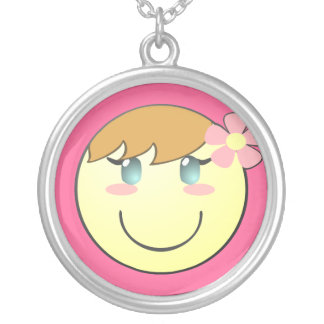 Customizable Cute Girly Smiley Necklace