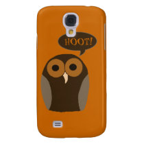 Customizable Cute Hoot Owl Galaxy S4 Cover