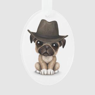 Customizable Cute Pug Puppy Cowboy
