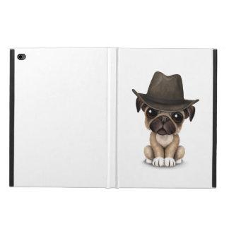 Customizable Cute Pug Puppy Cowboy Powis iPad Air 2 Case