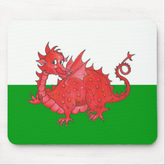 Customizable Cute Welsh Red Dragon Mousepad
