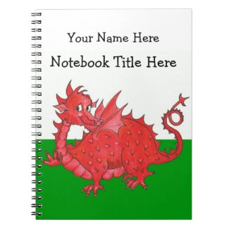 Customizable Cute Welsh Red Dragon Notebook