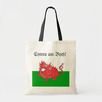 Customizable Cute Welsh Red Dragon Tote Bag