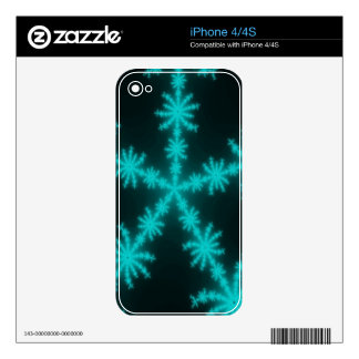 Customizable Cyan Snowflake iPhone 4/4S Fractal iPhone 4S Decals