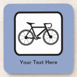 Customizable Cyclist Logo Coaster