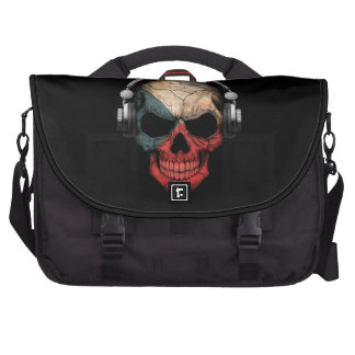 Customizable Czech Dj Skull with Headphones Bag For Laptop