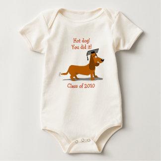 Customizable Dachshund Dog Graduation Template Baby Bodysuit