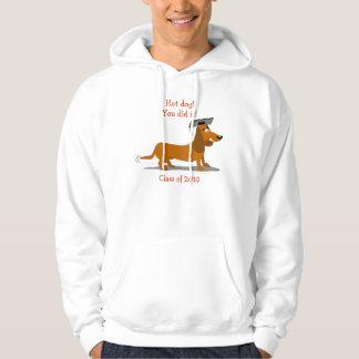 Customizable Dachshund Dog Graduation Template Hoodie