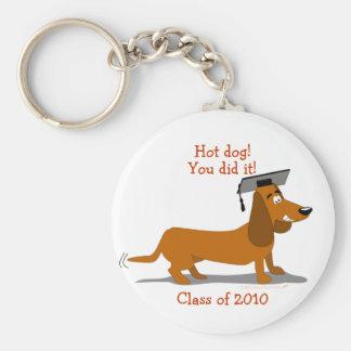 Customizable Dachshund Dog Graduation Template Keychain