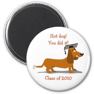 Customizable Dachshund Dog Graduation Template Magnet