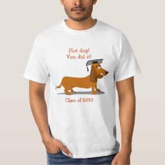 Customizable Dachshund Dog Graduation Template T-Shirt
