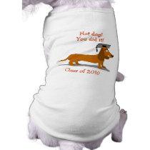 Customizable Dachshund Dog Graduation Template Tee