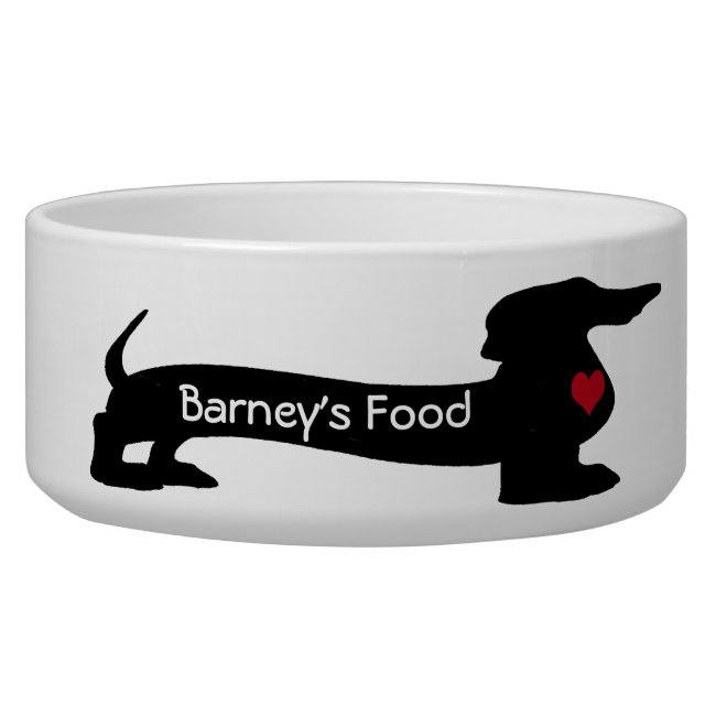 Customizable Dachshund Dog Pet Bowl