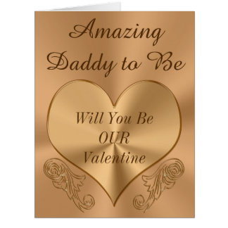 Customizable Daddy to Be Valentine Large Greeting Card