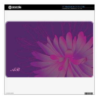 Customizable: Dahlia Decals For The MacBook
