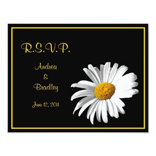 Customizable Daisy Wedding Response Card Invite