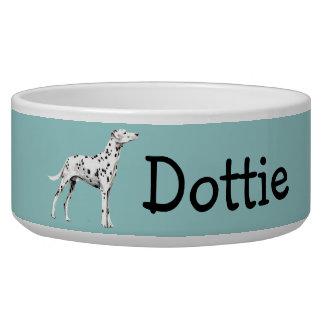 Customizable Dalmatian Dog Bowl