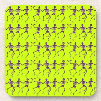 Customizable Dancing Skeletons Beverage Coaster
