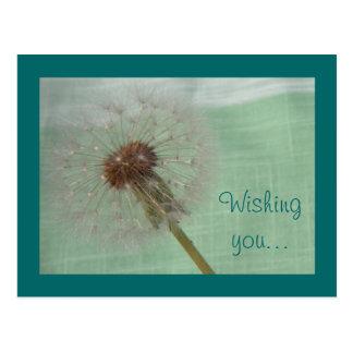 Customizable Dandelion Wishes Postcard