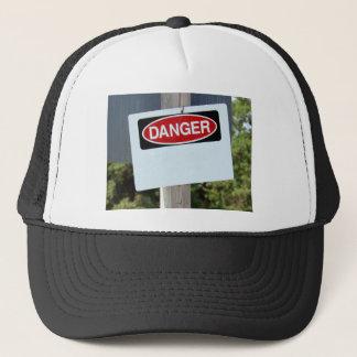 Customizable Danger Sign Trucker Hat
