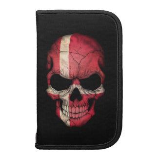 Customizable Danish Flag Skull Planner