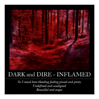 Customizable Dark and Dire - Inflamed Poster