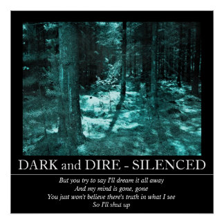 Customizable Dark and Dire - Silenced Poster