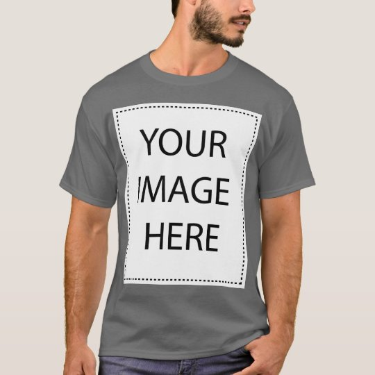 Customizable Dark Grey Basic Mens T-shirt! T-Shirt