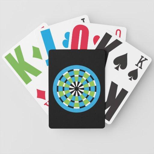 Customizable Dartboard Bicycle Poker Cards
