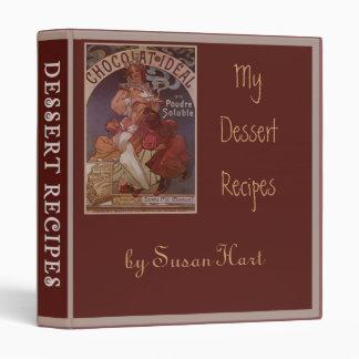 Customizable Dessert Recipes Binder