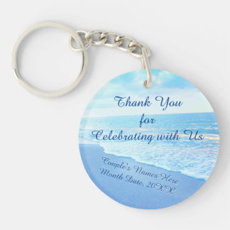 Customizable Destination Wedding Gifts for Guests Keychain