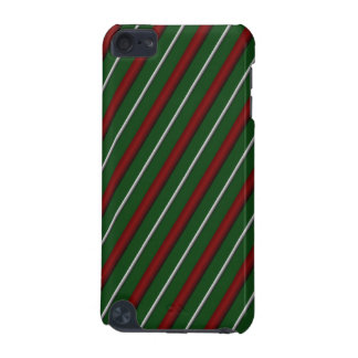 Customizable Diagonal Christmas Stripes iPod Touch 5G Cover