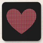 Customizable Diamond Heart Beverage Coasters