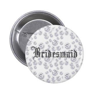 Customizable Diamonds Pinback Button