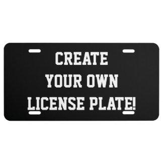 Customizable DIY Aluminum License Plates License Plate