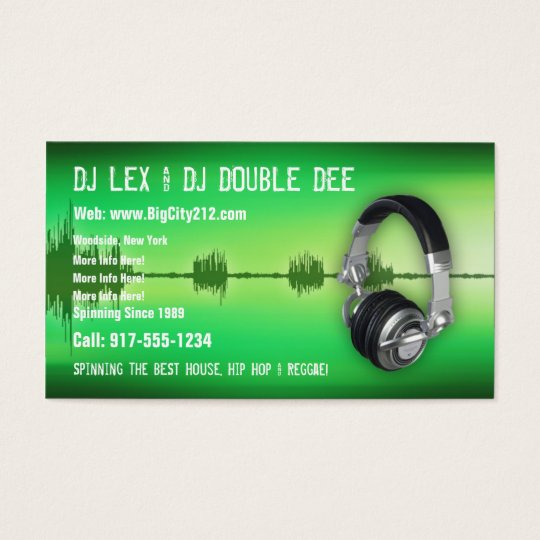 CUSTOMIZABLE DJ Business Card
